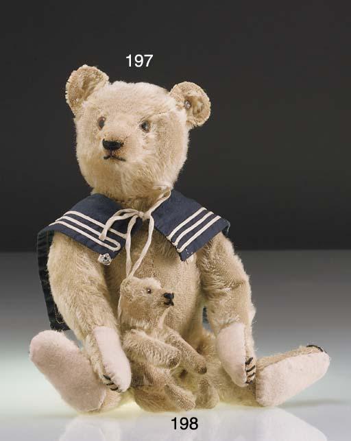 A small Steiff teddy bear