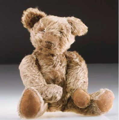 An unusal British teddy bear