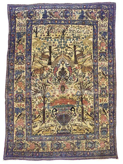 A fine Teheran garden rug
