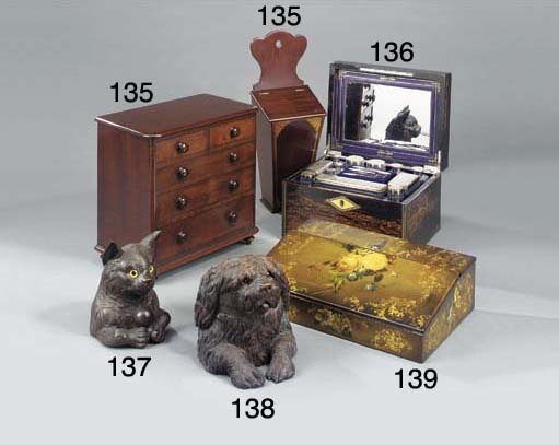 A Victorian mahogany miniature