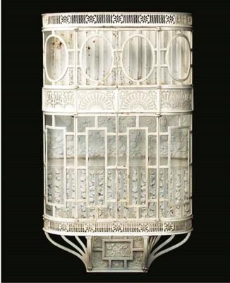 A Victorian cast iron WALL CAB