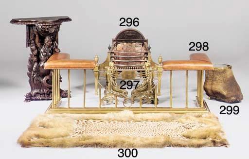 An ocelot pelt rug