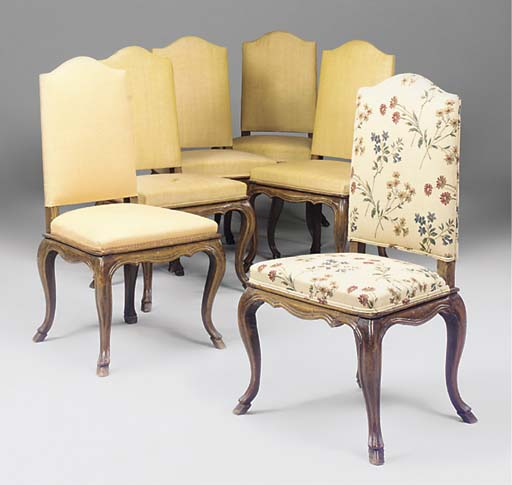 A SET OF SIX FRENCH BEECH AND