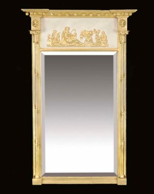 A Regency giltwood and white p