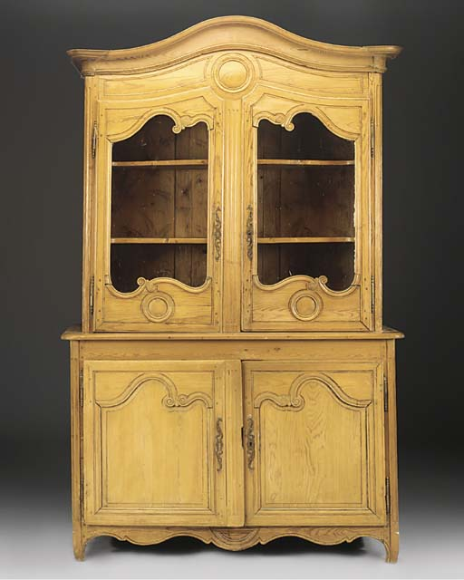 A FRENCH PROVINCIAL PINE BUFFE
