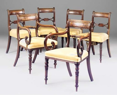 A MATCHED SET OF SIX REGENCY M