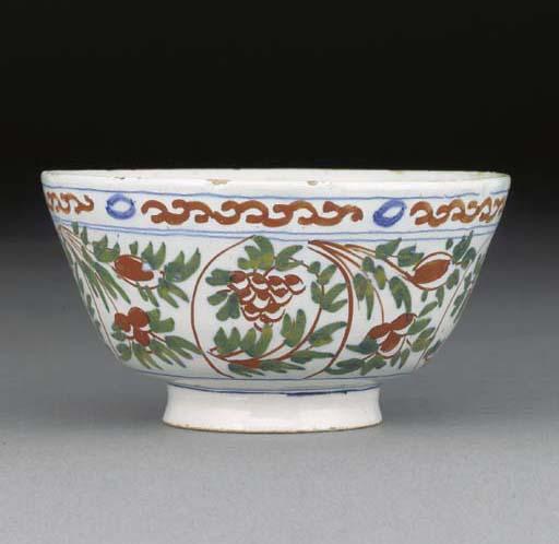 A Delft small polychrome bowl