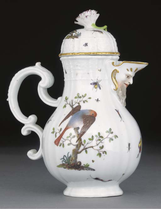 A Meissen mustard pot and cove