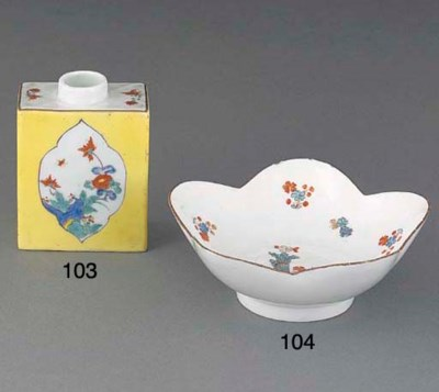A Meissen yellow-ground tea-ca