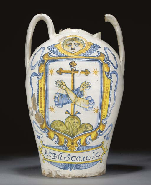 An Italian maiolica dated two-