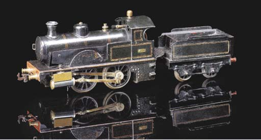 A Bing spirit-fired steam 0-4-