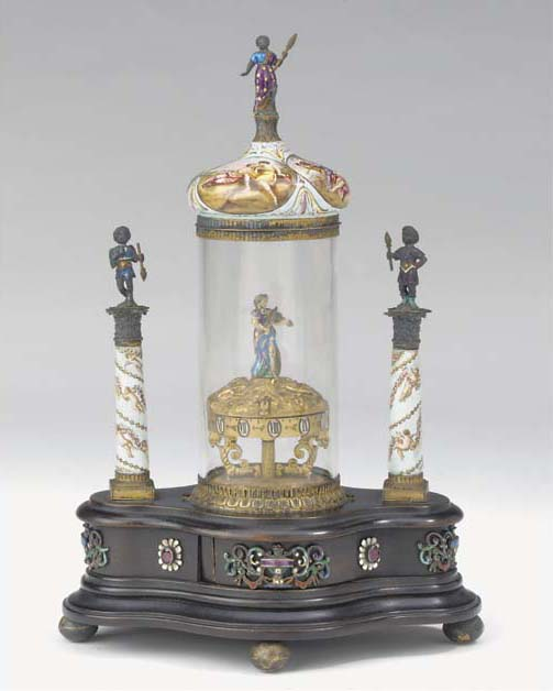 An Austrian painted enamel, gi