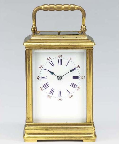 A French gilt-brass striking a