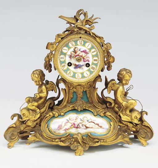 A Napoleon III gilt-bronze and