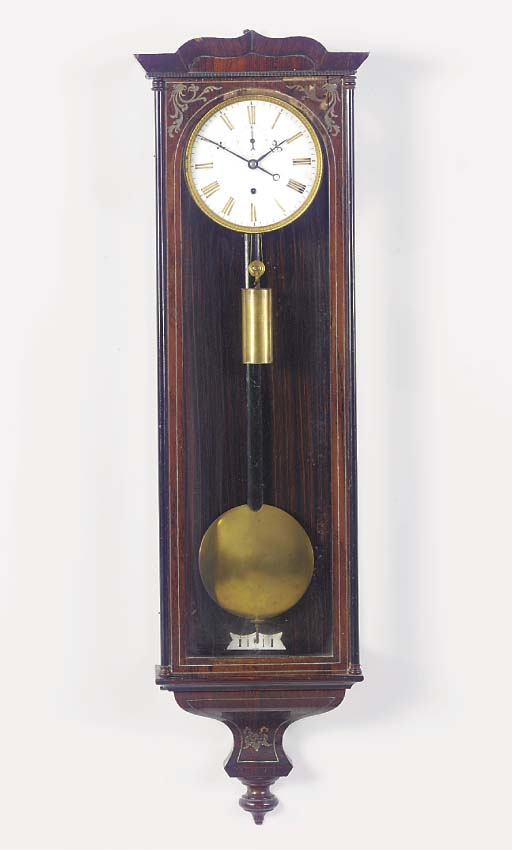 A German rosewood and brass in