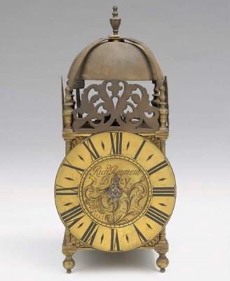 A George II brass lantern cloc