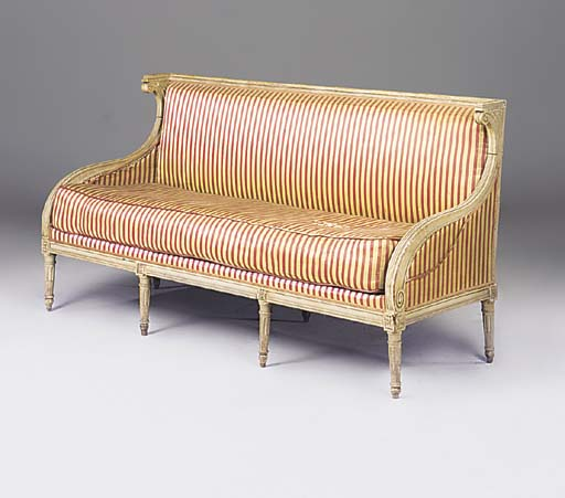 A FRENCH PAINTED SOFA