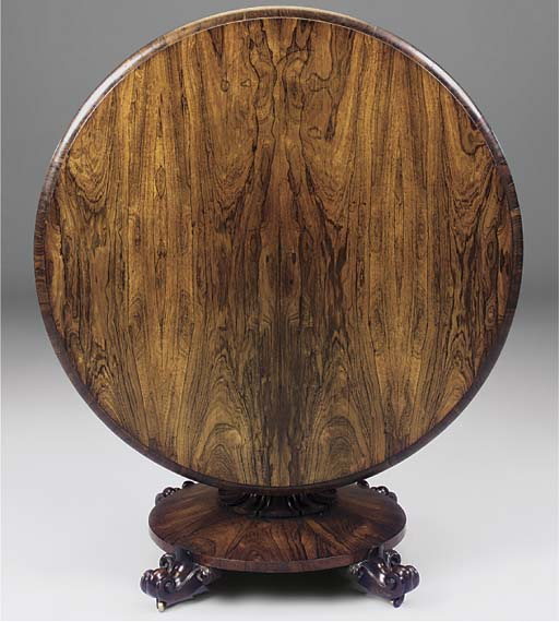 AN EARLY VICTORIAN ROSEWOOD CI