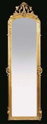 A Victorian gilt composition p