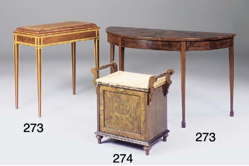 A Victorian walnut piano stool
