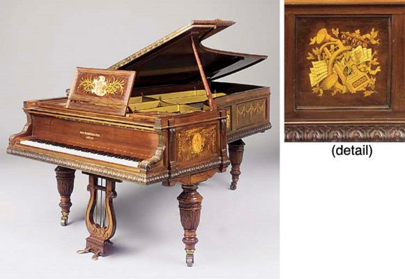 A late Victorian mahogany and