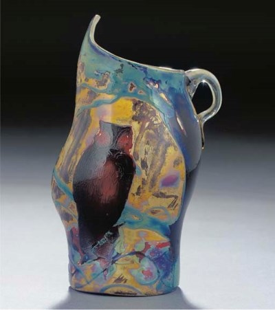 A CAMEO GLASS JUG