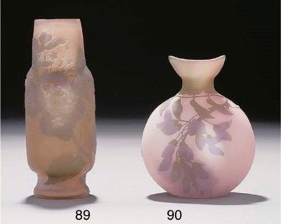 A CAMEO GLASS FLASK VASE