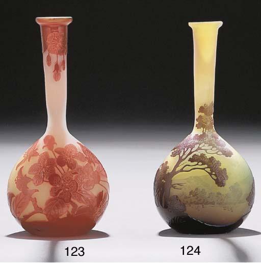 A CAMEO GLASS LANDSCAPE BOTTLE