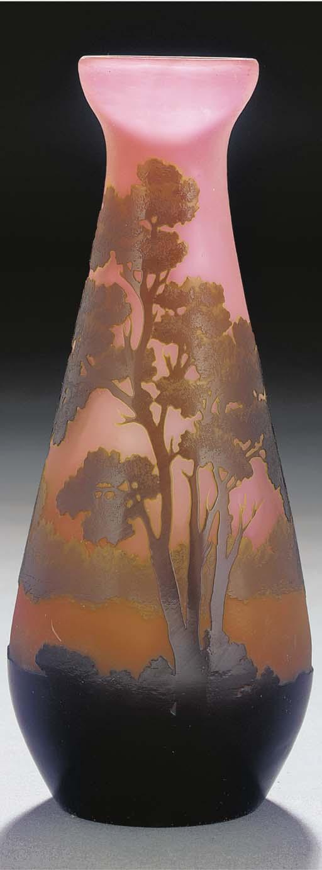 A CAMEO GLASS LANDSCAPE VASE