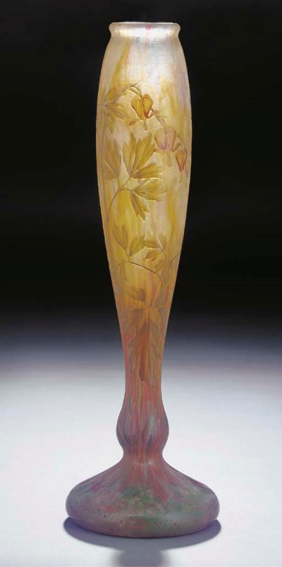 AN ETCHED AND ENAMELLED GLASS