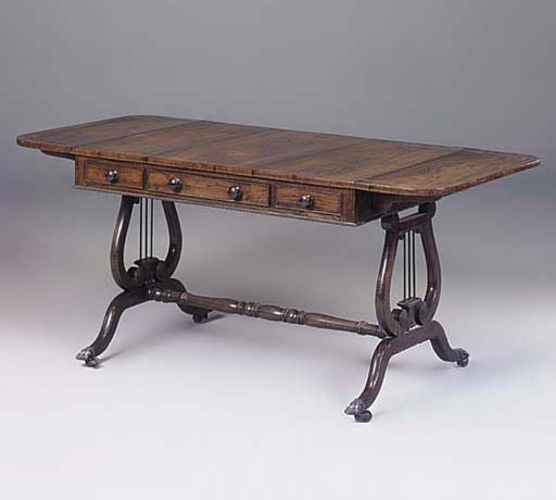 A REGENCY ROSEWOOD AND BEECH S