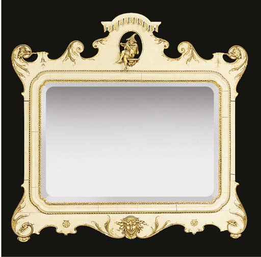 A CHINOISERIE WHITE PAINTED AN