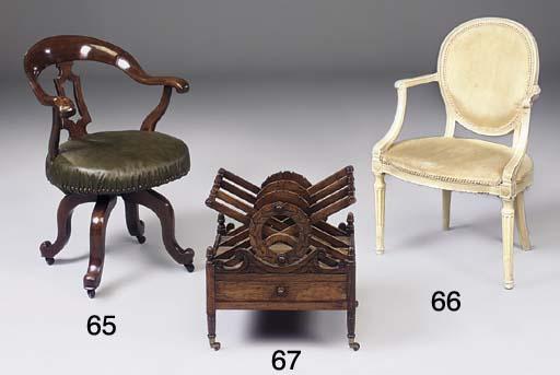 A George III armchair