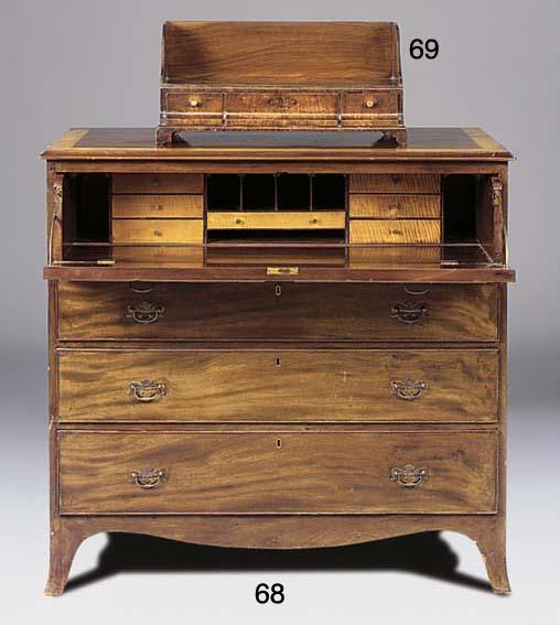 A mahogany and crossbanded sec