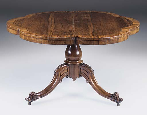 A VICTORIAN ROSEWOOD AND CALAM