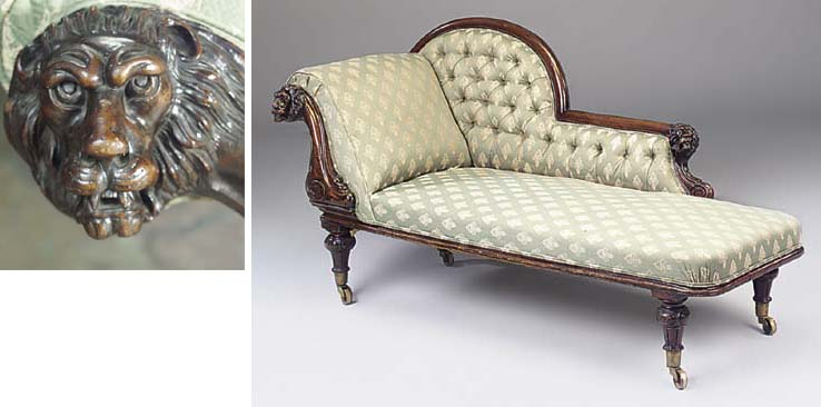 A WILLIAM IV CHAISE LONGUE