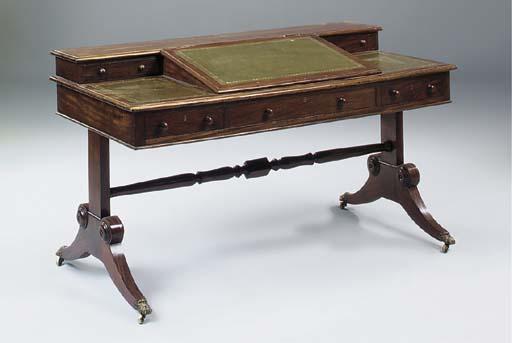 A Victorian mahogany writing t