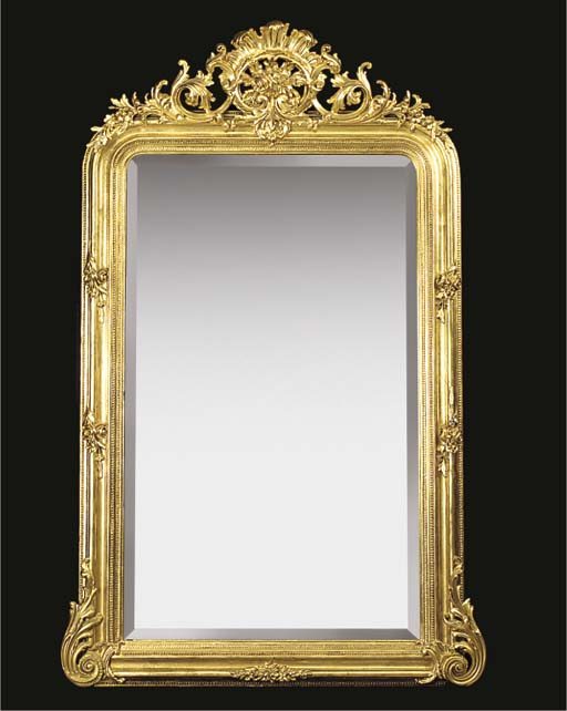 A FRENCH GILTWOOD AND COMPOSIT