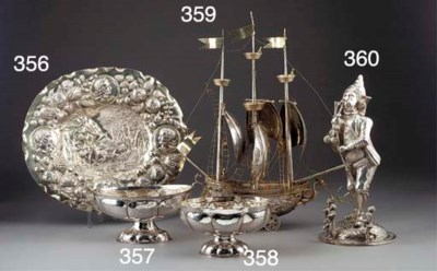 A German Parcel-Gilt Silver Ne