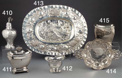A Dutch Silver Basket