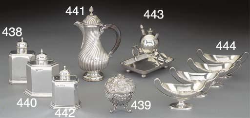 A Victorian Silver Tea Caddy