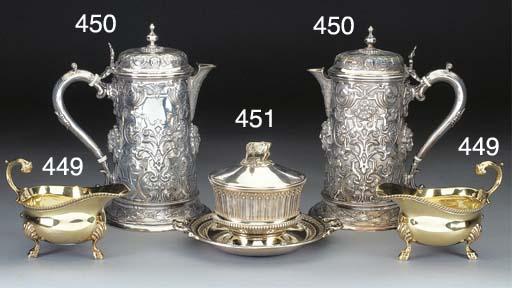 A Victorian Silver-Gilt Butter