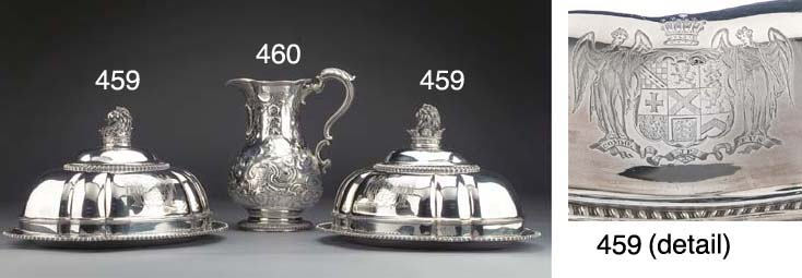 A Pair of George IV Silver Dis