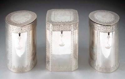 A Pair of George III Silver Te