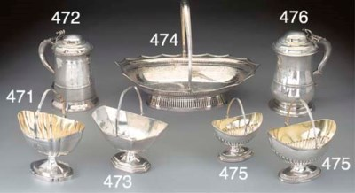 A George III Silver Sugar Bask