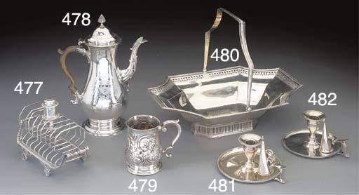 A George III Silver Toast Rack