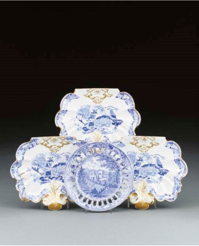 A William Mason blue and white