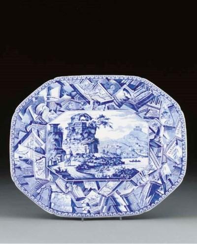 A Mason's Ironstone blue and w