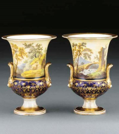 A pair of Miles Mason porcelai