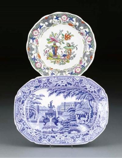 A Mason's Ironstone plate and